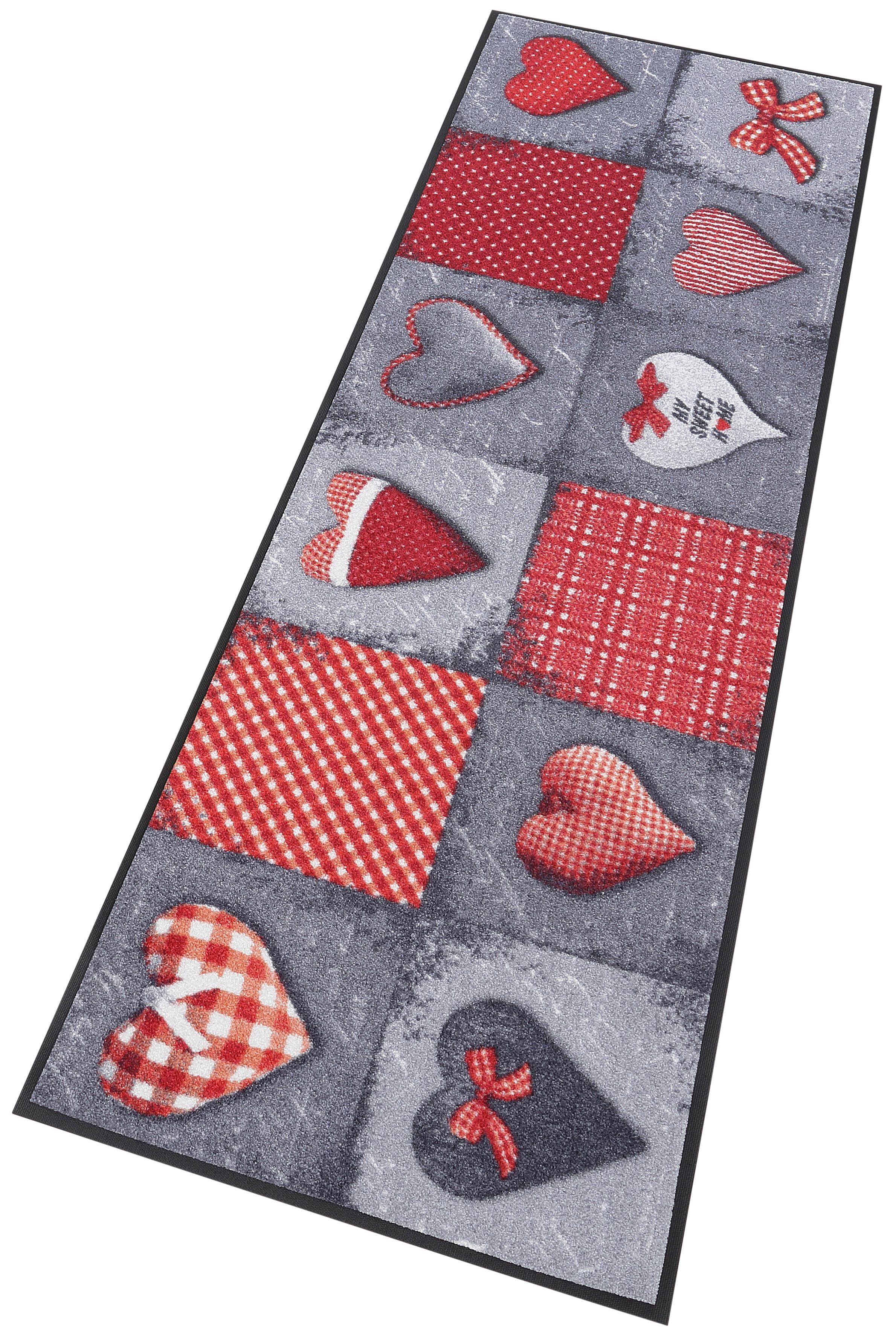 Läufer My Sweet Home grey wash+dry by Kleen-Tex rechteckig Höhe 7 mm gedruckt