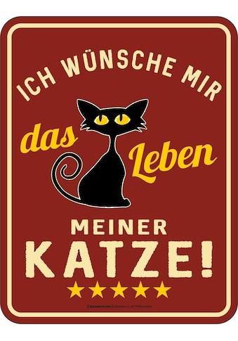 Rahmenlos Blechschild für den Katzenliebhaber mit witzigem Spruch kaufen