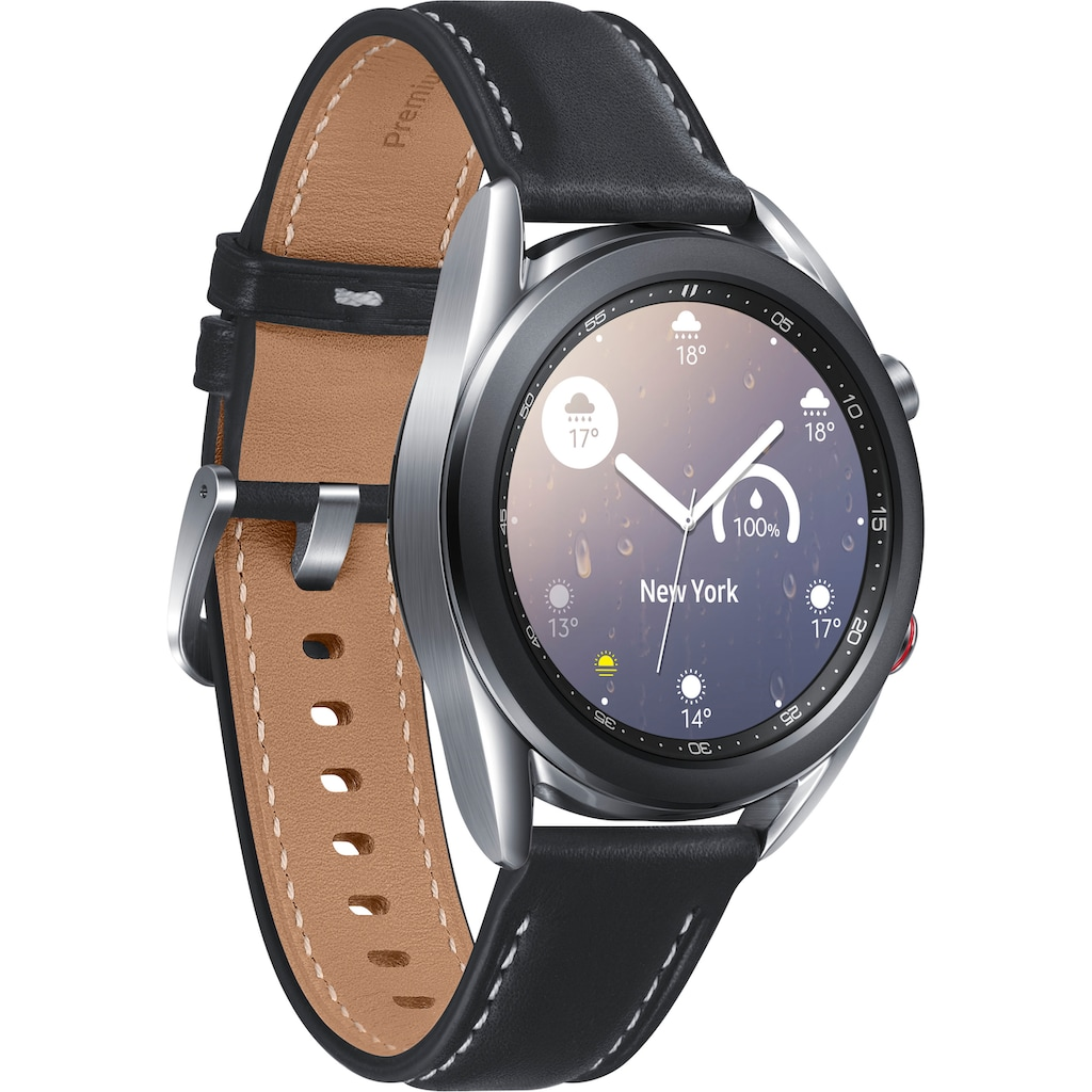 Samsung Smartwatch »Galaxy Watch3, Edelstahl, 41 mm, LTE (SM-R855)« (3 cm/1,2 ""
