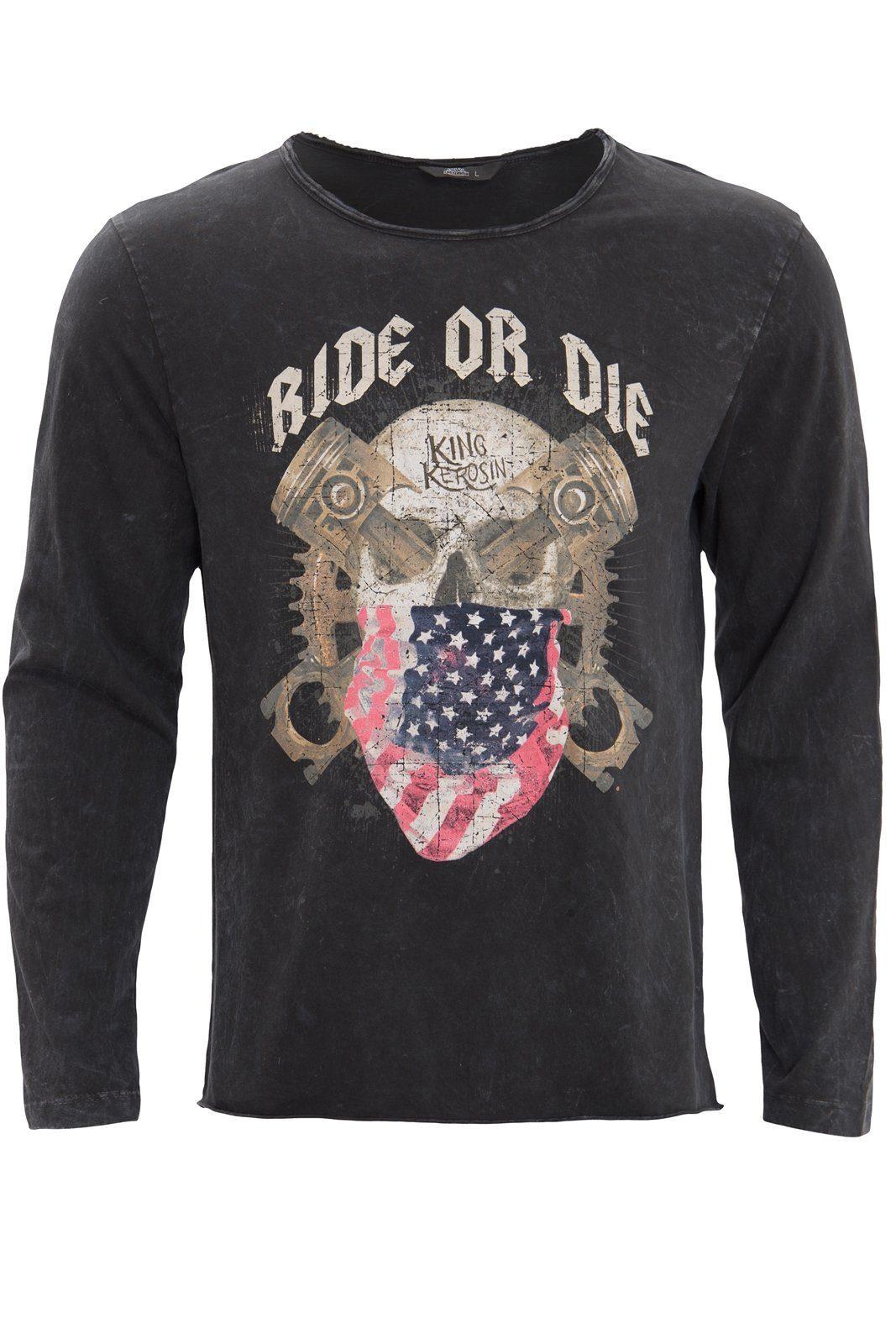kingkerosin -  Langarmshirt ride or die