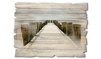 Artland Holzbild »Steg ins Watt«, Strand, (1 St.) kaufen