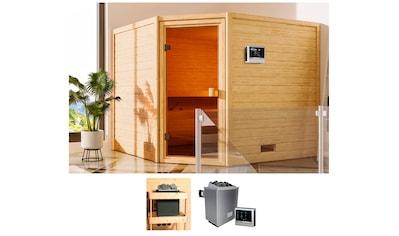 KARIBU Sauna »Leah«, 230x195x187 cm, 9 kW Ofen mit ext. Steuerung kaufen