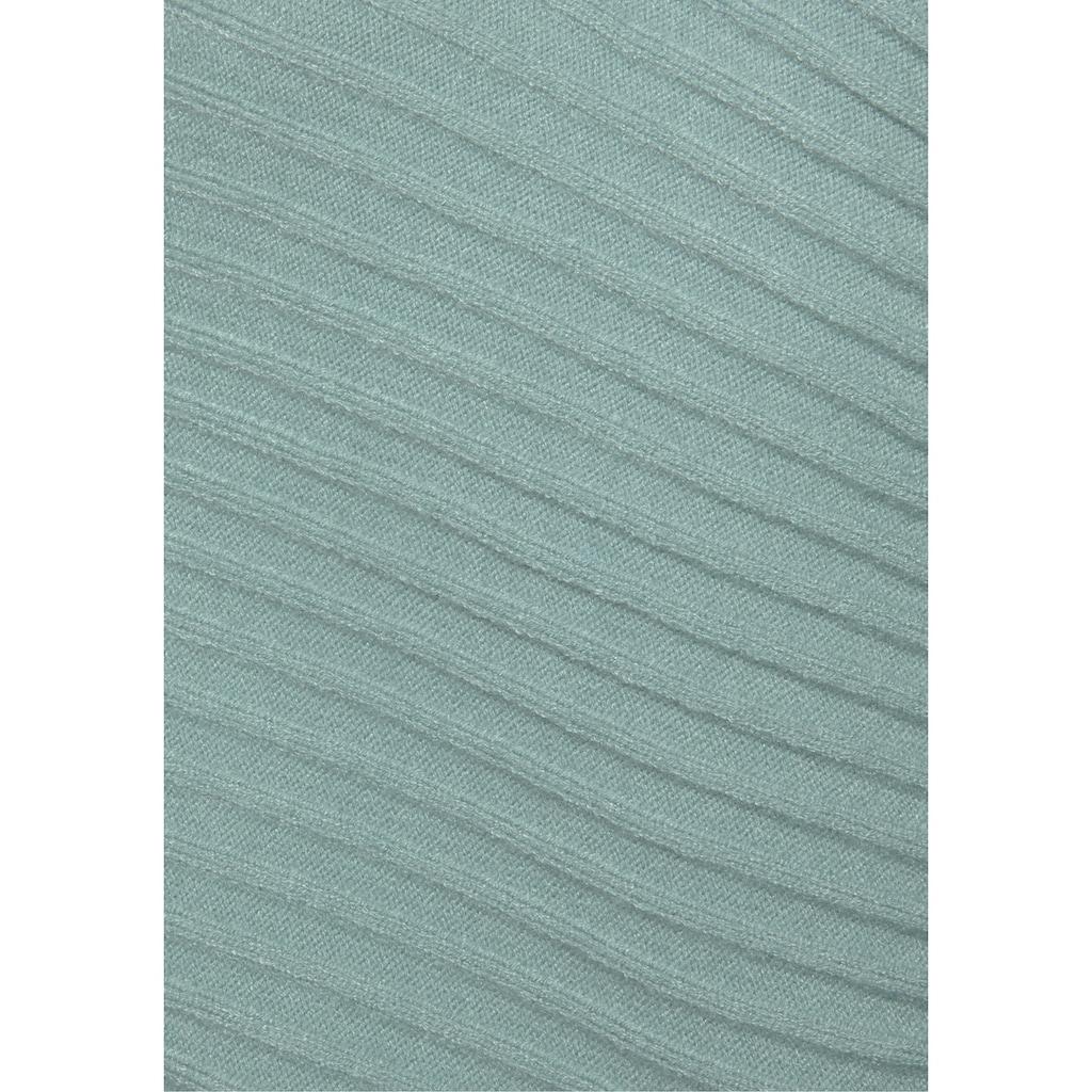 LASCANA Strickpullover, in modischem Rippstrick