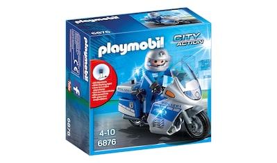 "Playmobil® Konstruktions - Spielset ""Motorradstreife mit LED - Blinklicht (6876), City Action"", Kunststoff kaufen"