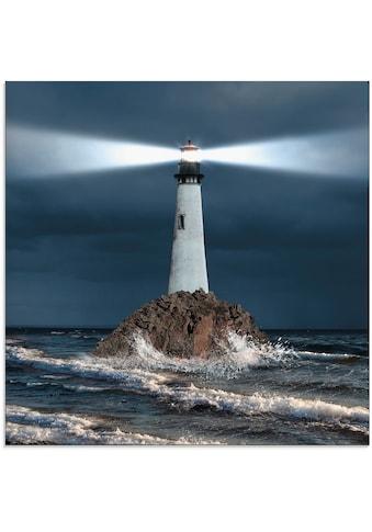 Artland Glasbild »Bild von Leuchtturm mit Lichtstrahl« kaufen