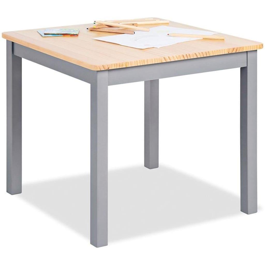 Pinolino® Kindertisch »Fenna, grau/natur«, für Kinder