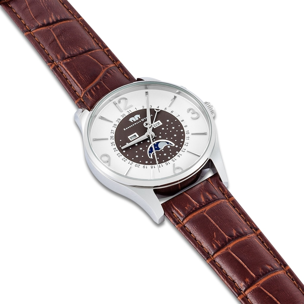 Rhodenwald & Söhne Quarzuhr »RWS008«, (1 tlg.), Armband aus Echtleder