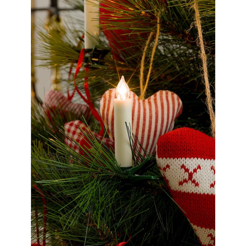 KONSTSMIDE LED Baumbeleuchtung, 10 kleine kabellose Kerzen