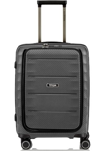 TITAN® Hartschalen-Trolley »Highlight, 55 cm«, 4 Rollen, Frontfach kaufen