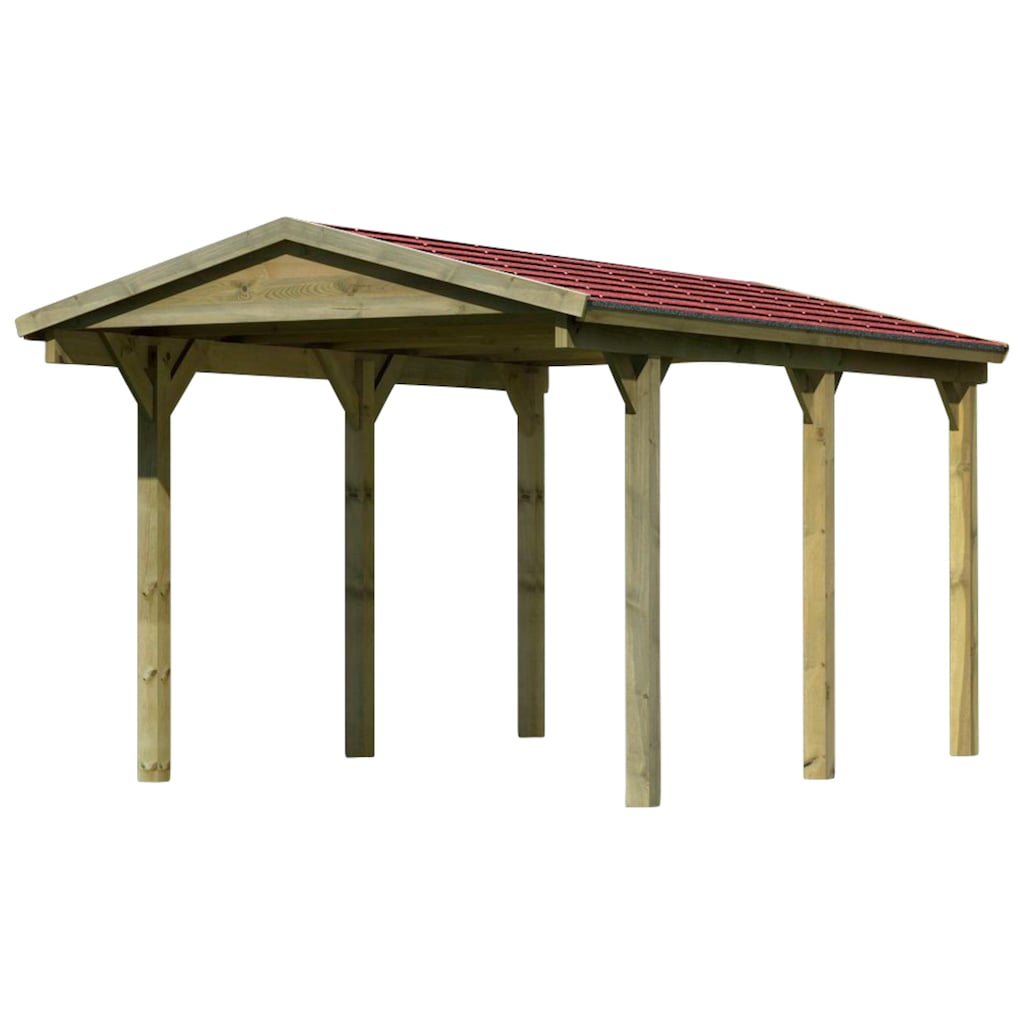 Karibu Einzelcarport »Classic«, Holz, 250 cm, braun