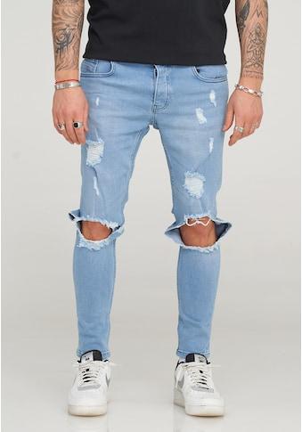 2Y Premium Slim-fit-Jeans »LENNAY«, mit trendigen Destroyed-Elementen kaufen