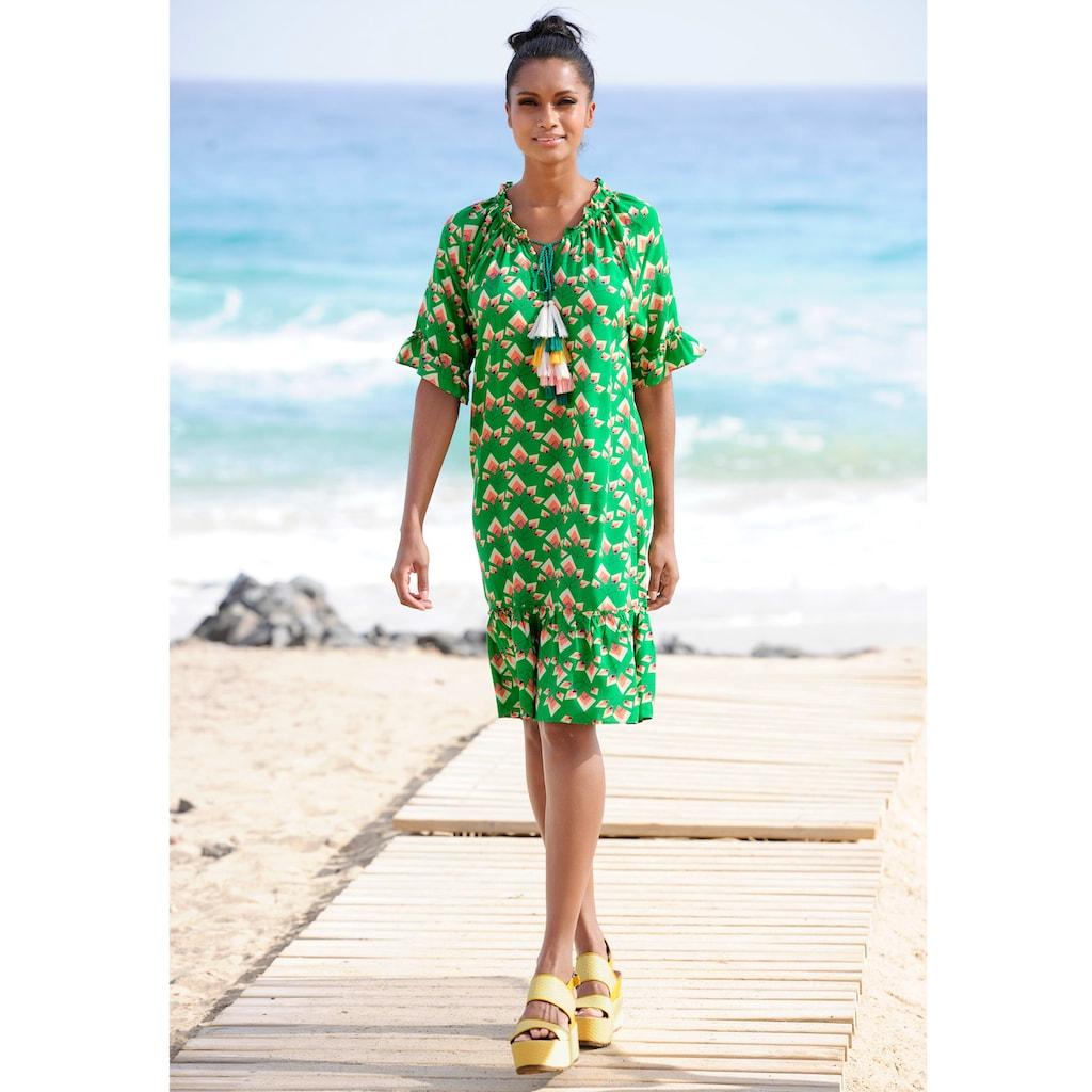 Alba Moda Strandkleid mit Quastenverzierung