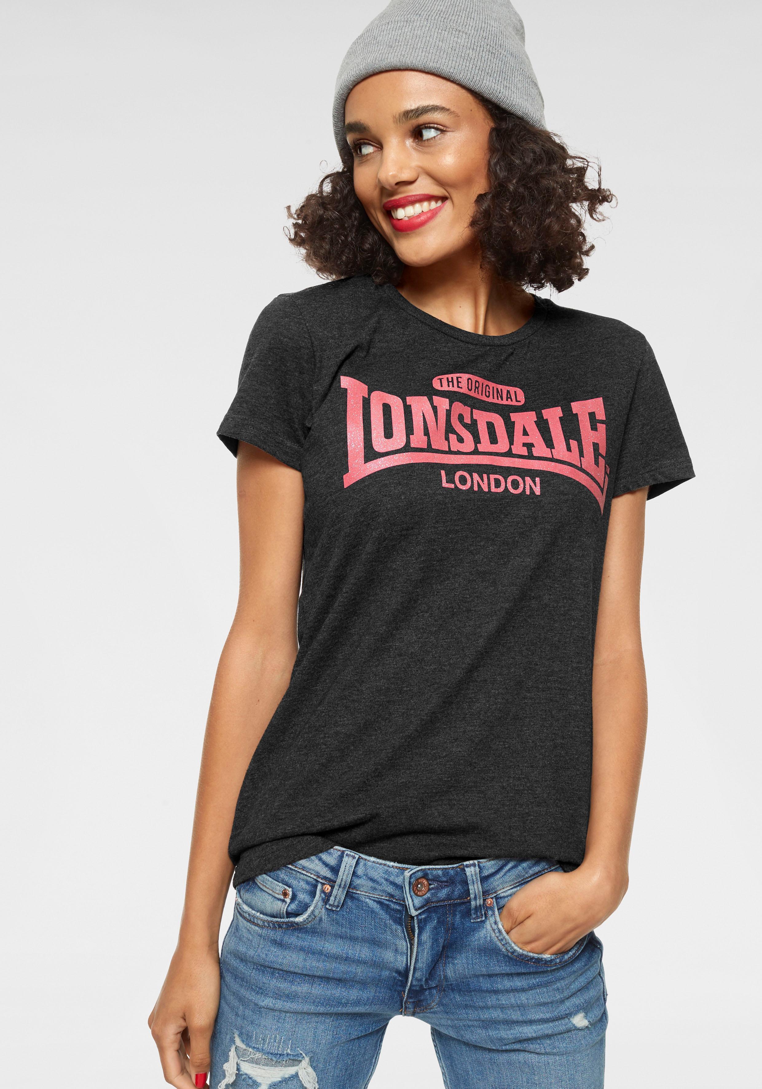 Lonsdale T-Shirt TULSE grau Damen T-Shirts Shirts Sweatshirts