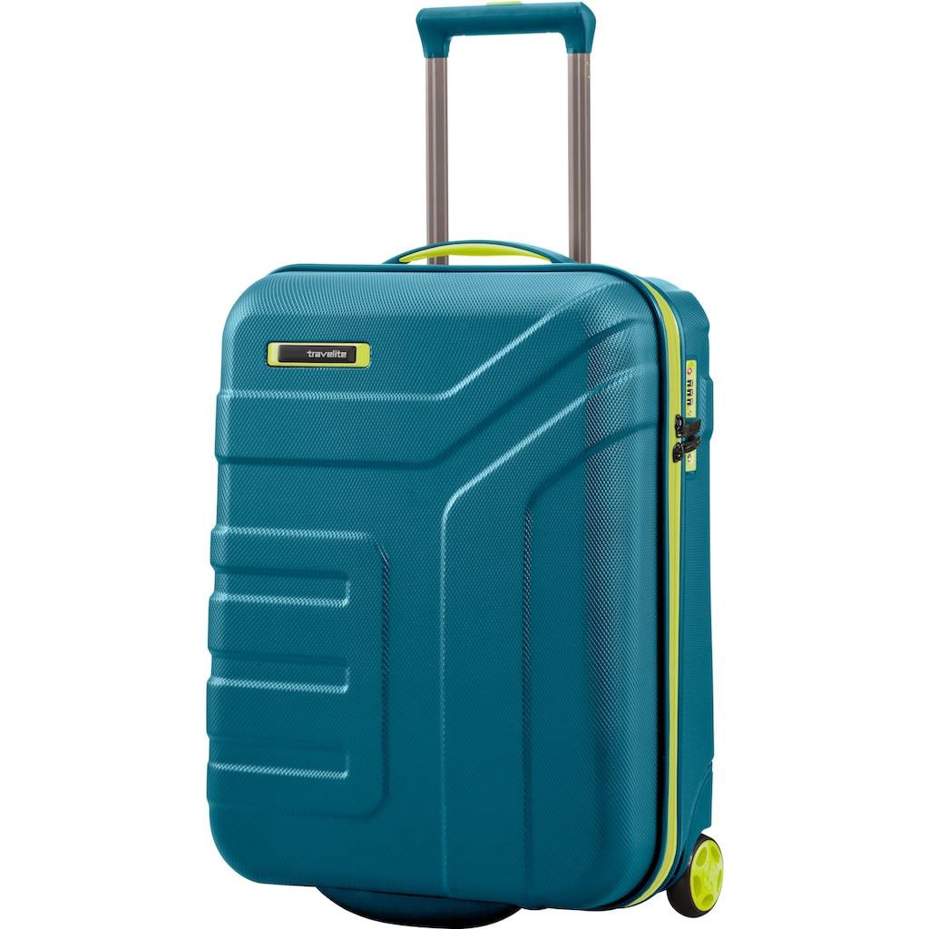 travelite Hartschalen-Trolley »Vector, 55 cm, Petrol/Limone«, 2 Rollen