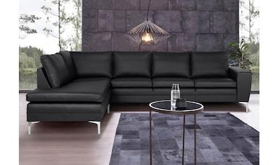 Places of Style Ecksofa »Twigo«, in Echtleder, mit hohem Sitzkomfort kaufen