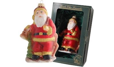 """Krebs Glas Lauscha Christbaumschmuck """"Weihnachtsmann mit Rentier"""" (1 - teilig) kaufen"""