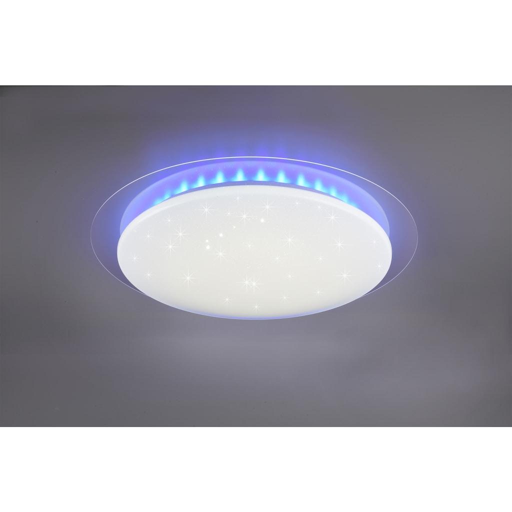TRIO Leuchten LED Deckenleuchte »Joleen«, LED-Board, 1 St., Farbwechsler, Deckenlampe Ø 72 cm mit RGB Backlight, Hauptlicht mit Starlight-Effekt und Farbtemperaturstuerung von 2700 – 5500K, inkl. Fernbedienung & Dimmfunktion