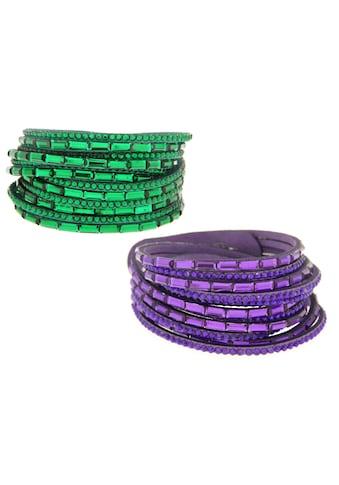 La Piora Armband »Armband Set«, Wickelarmbänder grün & lila kaufen