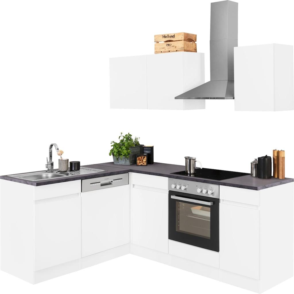 OPTIFIT Winkelküche »Roth«, mit E-Geräten, Stellbreite 210 x 175 cm