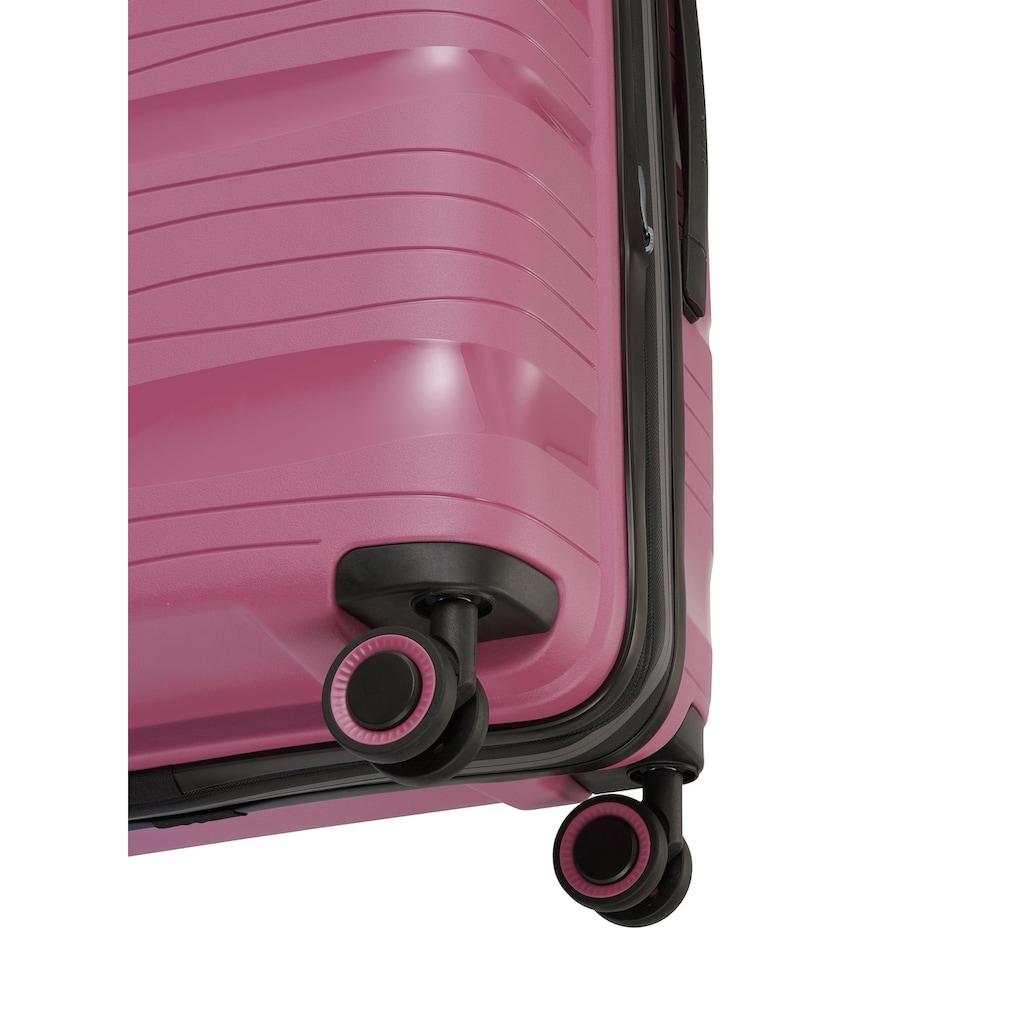 travelite Hartschalen-Trolley »Motion, 67 cm«, 4 Rollen, Erweiterbar