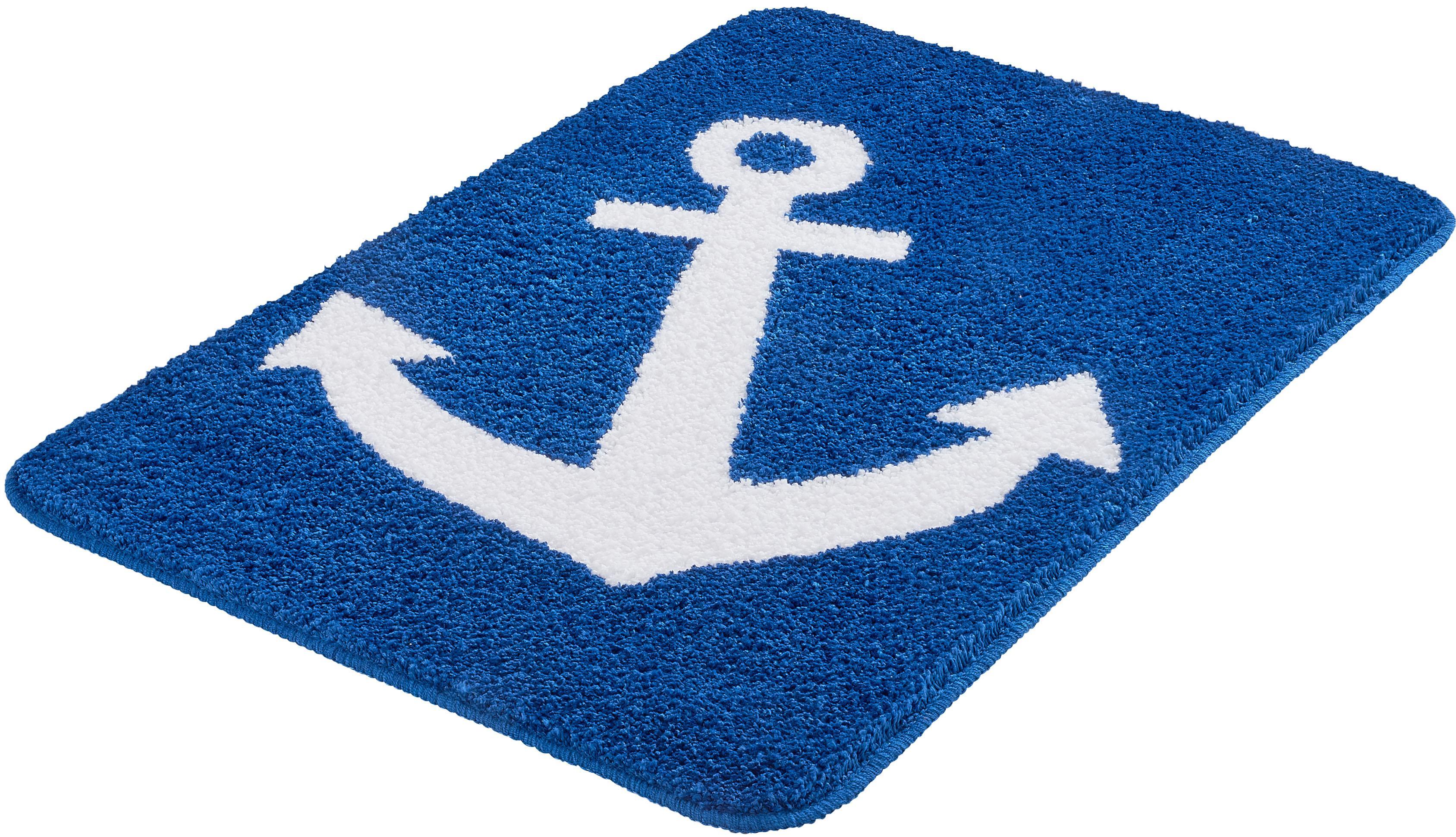 Badematte »Anchor«, Kleine Wolke, Höhe 12 mm, rutschhemmend beschichtet,  fußbodenheizungsgeeignet auf Raten | BAUR