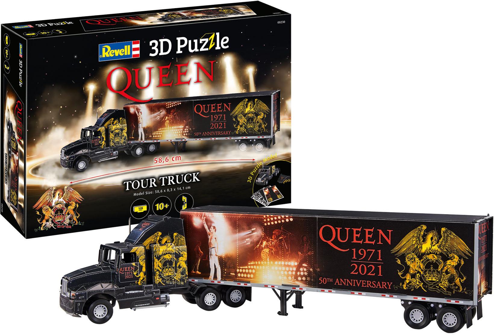 Revell 3D-Puzzle Tour-Truck Queen schwarz Kinder 3D Puzzle Gesellschaftsspiele