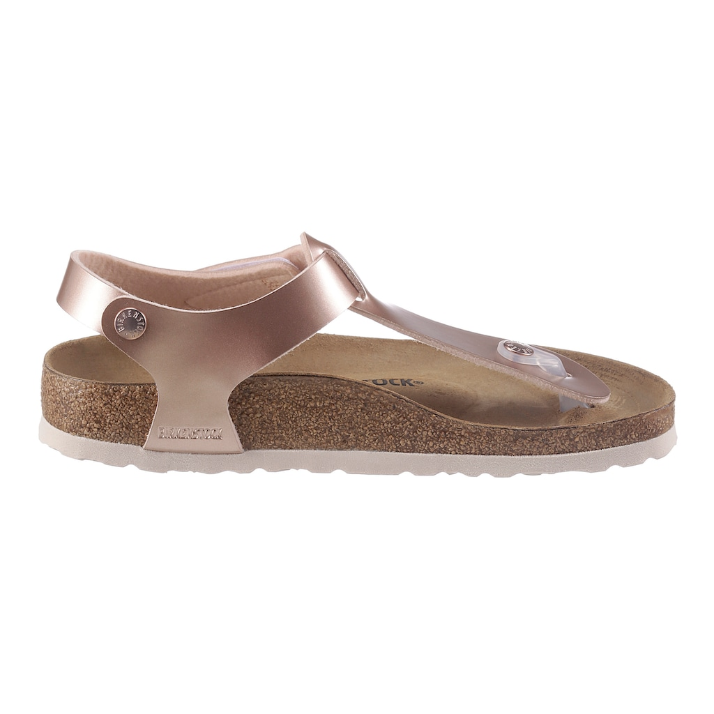 Birkenstock Zehentrenner »KAIRO Kids«, in angesagter Metallic-Optik, Schuhweite: schmal