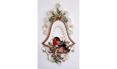 Stickereien Plauen Fensterbild »Vogel in Glocke« (1 Stück) kaufen