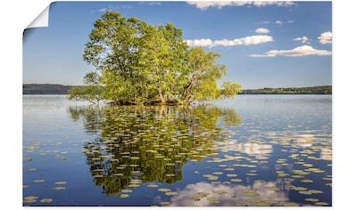 Artland Wandbild »Bauminsel im Mälarsee«, Seebilder, (1 St.), in vielen Größen &... kaufen