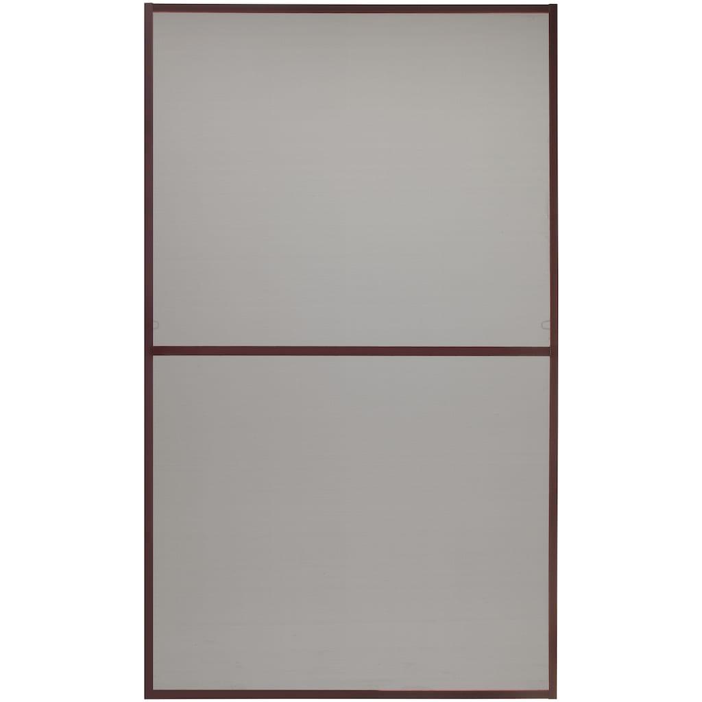 hecht international Insektenschutz-Fenster »MASTER SLIM XL«, braun/anthrazit, BxH: 130x220 cm