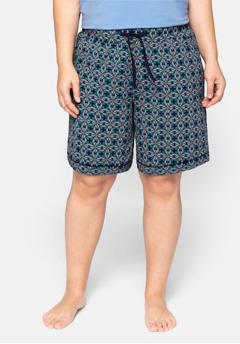 Sheego Pyjamashorts, mit kontrastfarbenen Details kaufen