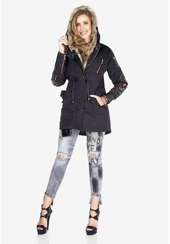 Cipo & Baxx Outdoorjacke, mit stylischer Kunstfellkapuze kaufen
