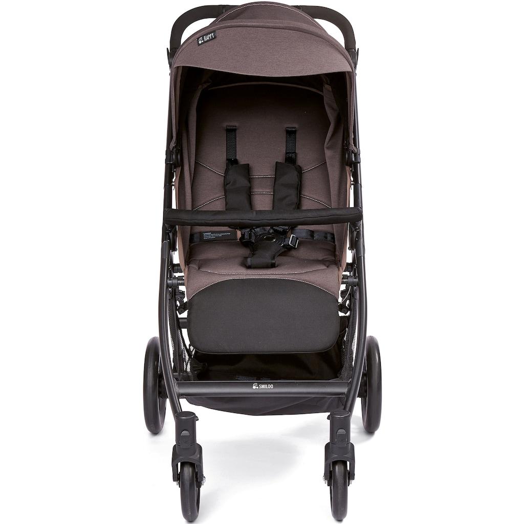 Gesslein Kinder-Buggy »Smiloo Happy, schwarz/taupe meliert«, Kinderwagen, Buggy, Sportwagen, Sportbuggy, Kinderbuggy, Sport-Kinderwagen