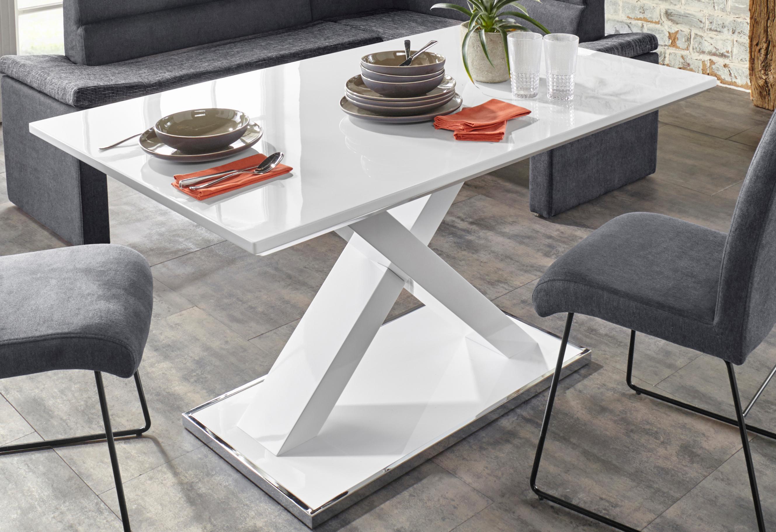 Homexperts Esstisch, Breite 120, 140 oder 160 cm weiß Esstisch Esstische rechteckig Tische