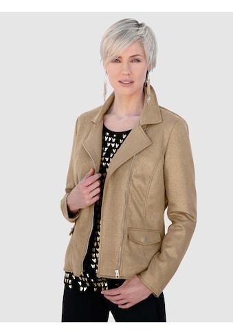 Laura Kent Lederimitat - Jacke gold beschichtet kaufen