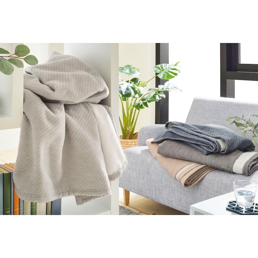 IBENA Wolldecke »Baumwoll-Tencel Decke Tennessee«, schlicht