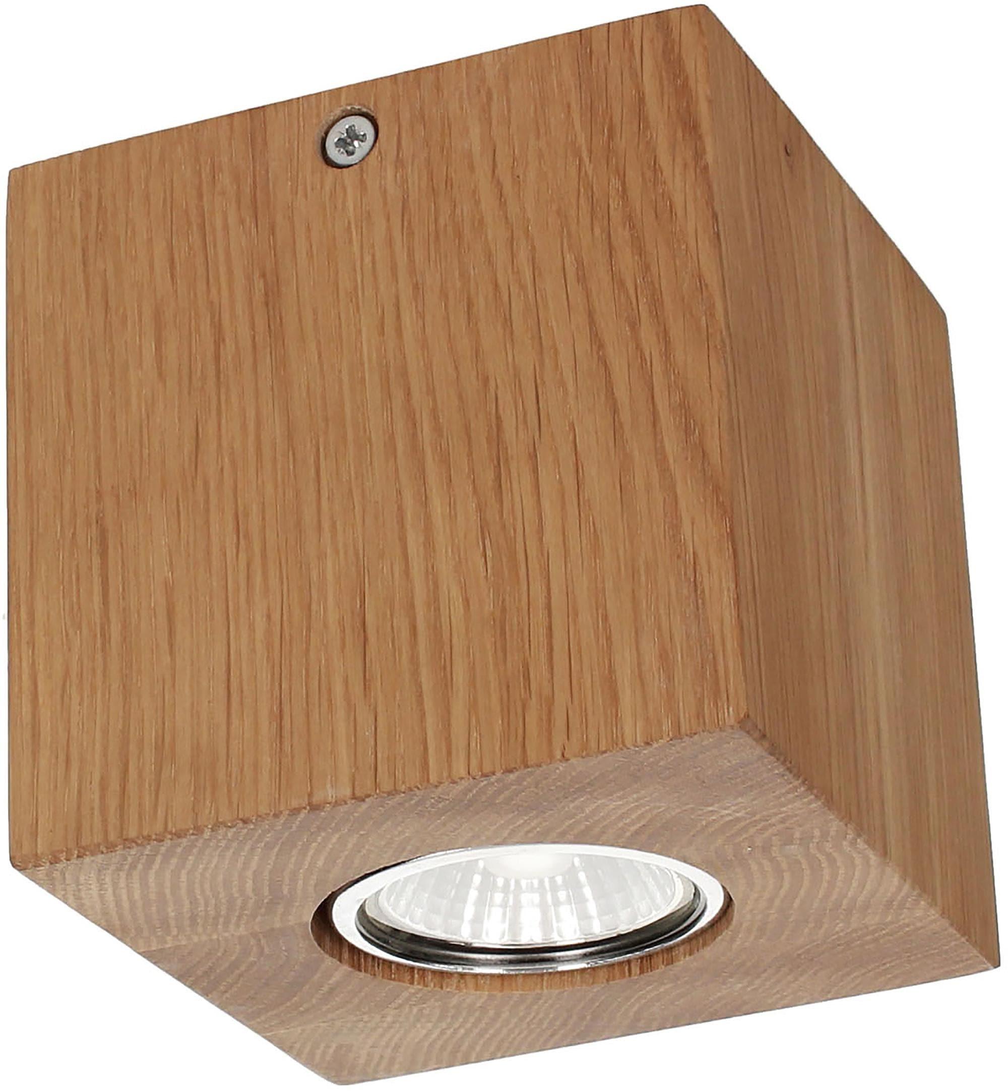 SPOT Light,LED Deckenleuchte»WOODDREAM«, | Lampen > Deckenleuchten > Deckenlampen | Holz - Metall - Eiche - Geölt | SPOT LIGHT