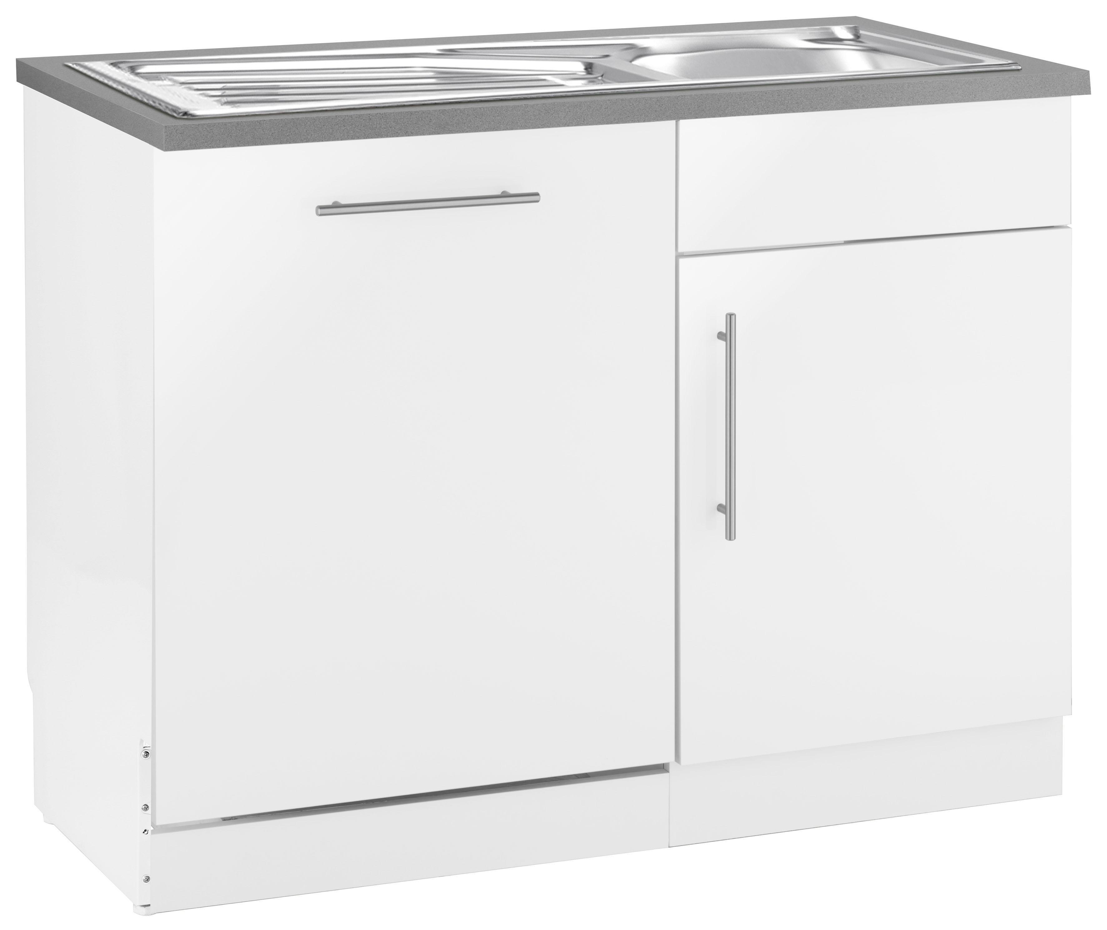 wiho Küchen Spülenschrank Cali, 110 cm breit, inkl. Tür/Sockel für Geschirrspüler weiß Spülenschränke Küchenschränke Küchenmöbel