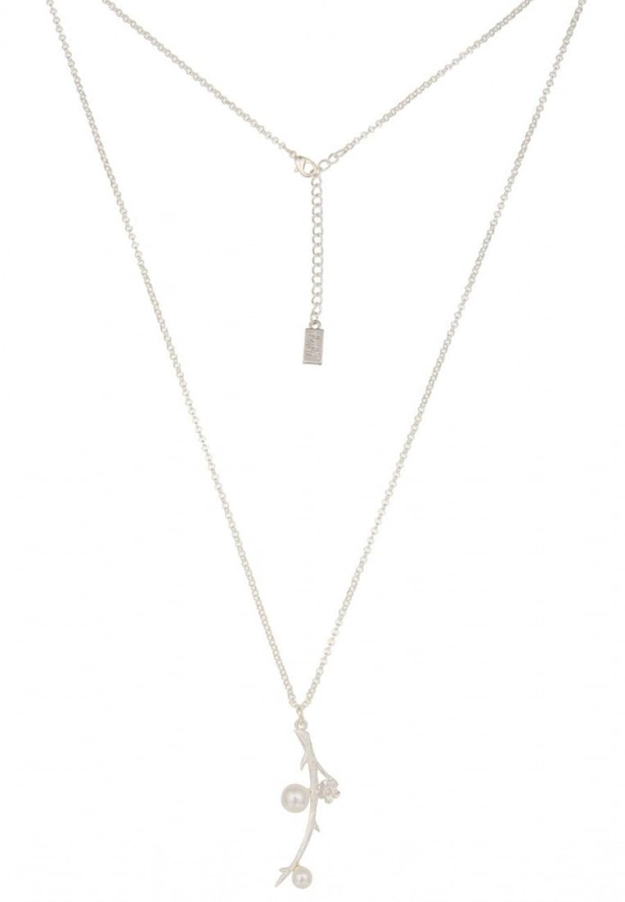 leslii -  Halskette mit Perlen in silberfarbener Legierung