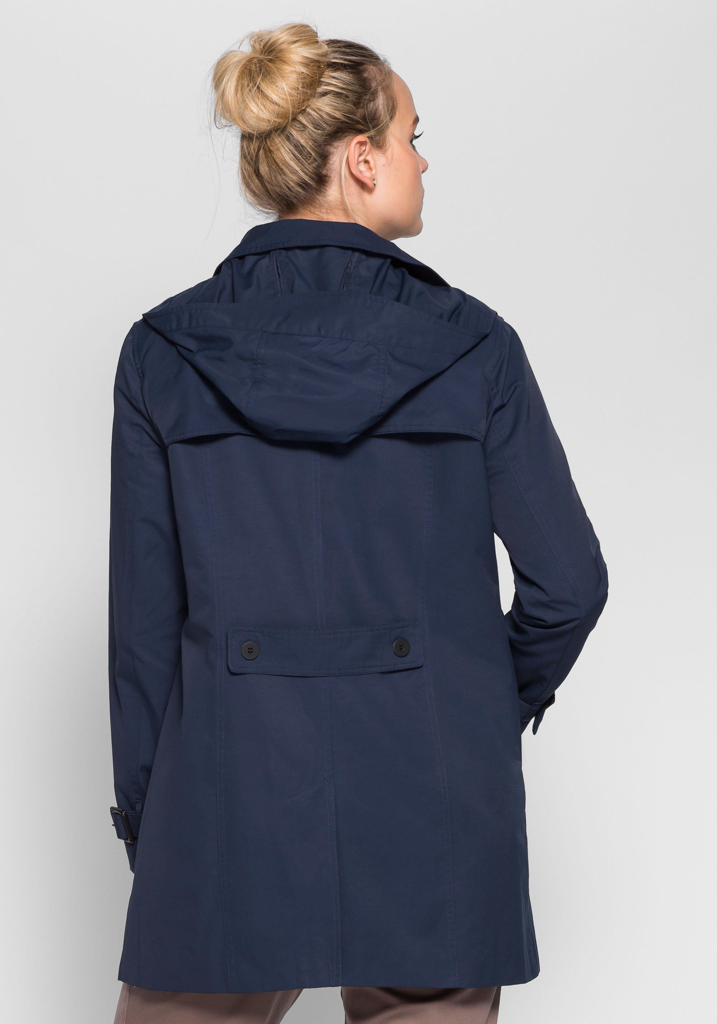 sheego Casual Trenchcoat | Bekleidung > Mäntel > Trenchcoats | Blau | SHEEGO CASUAL