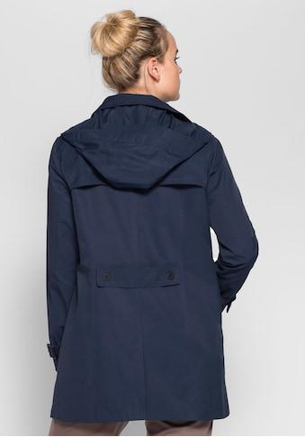 Sheego Trenchcoat, Winddicht und wasserabweisend durch beschichtete Baumwolle kaufen