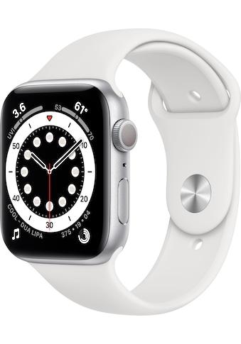 Apple Watch »Series 6 GPS, Aluminiumgehäuse mit Sportarmband 44mm«, ( Watch OS 6 inkl.... kaufen