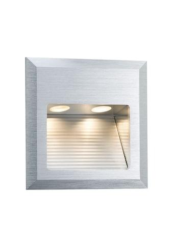 Paulmann,LED Wandleuchte»Einbau Special Line Quadro Alu gebürstet, 1er Set Alu gebürstet, 1er Set«, kaufen