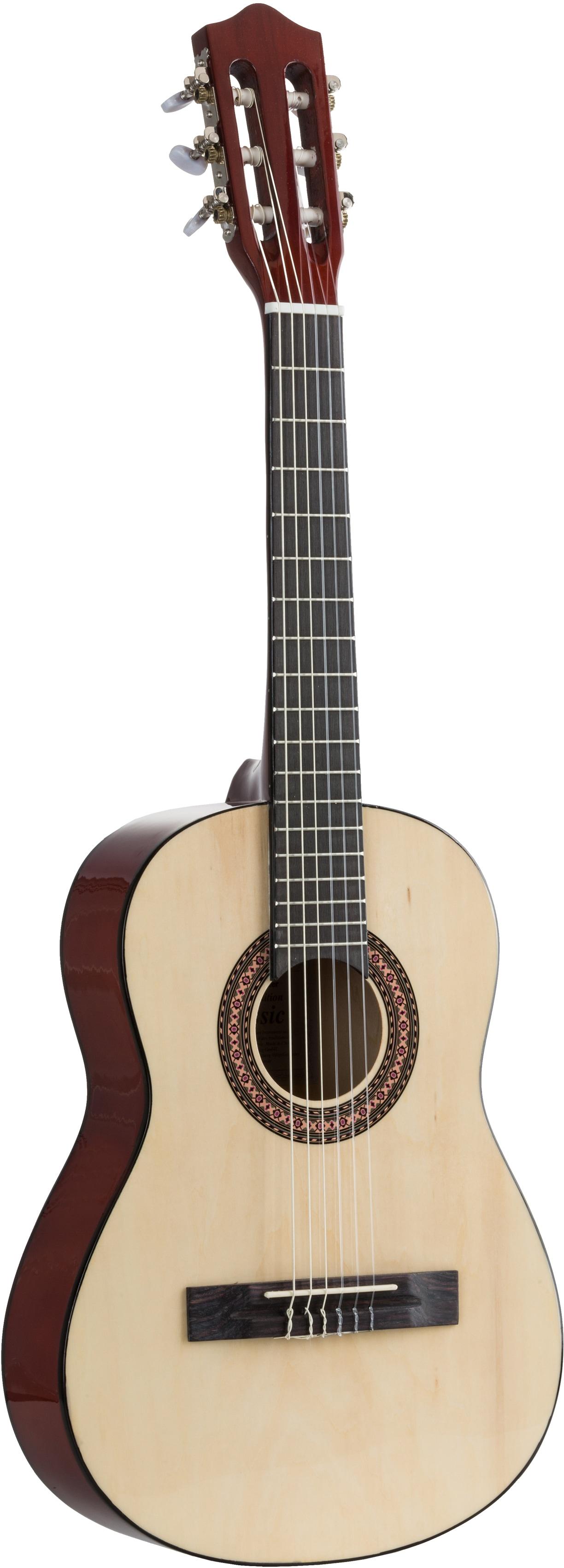 Voggenreiter Kindergitarre Kindergitarre, natur, 1/2 braun Gitarre Musikinstrumente