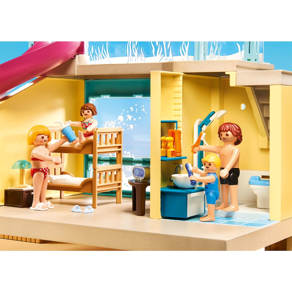 Playmobil® Konstruktions-Spielset »Bungalow mit Pool (70435), Family Fun«, ; Made in Germany