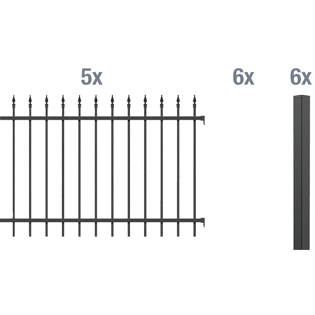 GAH Alberts Metallzaun »Chaussee«, 120 cm hoch, 5 Matten für 10 m, 6 Pfosten zum Aufschrauben