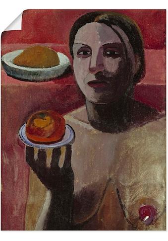 Artland Wandbild »Halbakt einer Italienerin mit Teller«, Frau, (1 St.), in vielen... kaufen