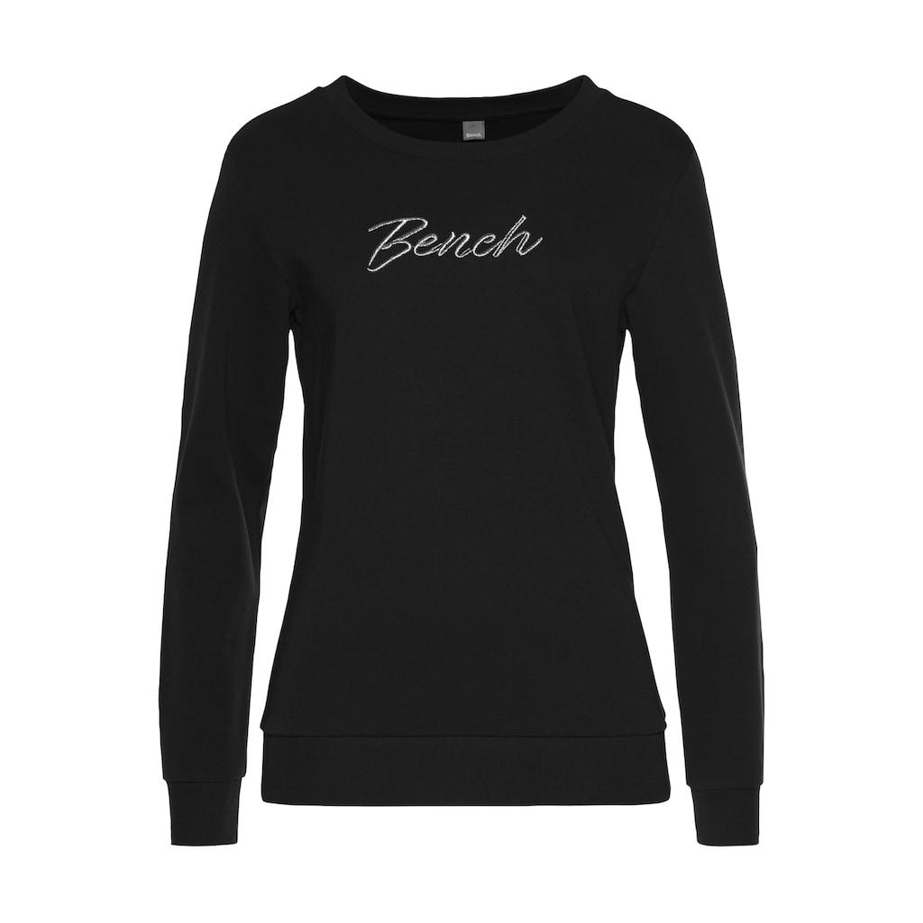 Bench. Sweatshirt, mit Logostickerei