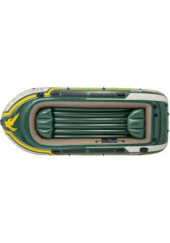 Intex Schlauchboot »Seahawk 4« (Set, mit 2 Paddeln und Luftpumpe) kaufen