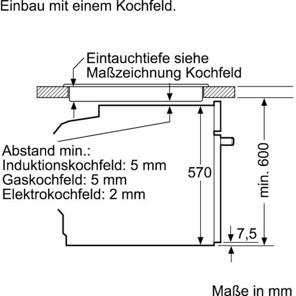 Constructa Pyrolyse Backofen »CF4M97060«, CF4M97060, mit Teleskopauszug nachrüstbar, Pyrolyse-Selbstreinigung